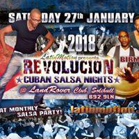 Sat 27 Jan  LatinMotionRevolucion Cuban Salsa Nights  The Land Rover Club Solihull Birmingham