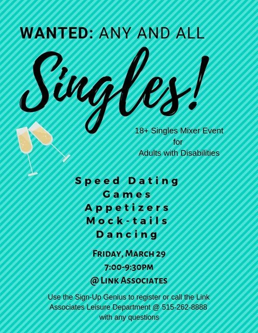 Free Singles Mixer for Adults with Disabilities at Link