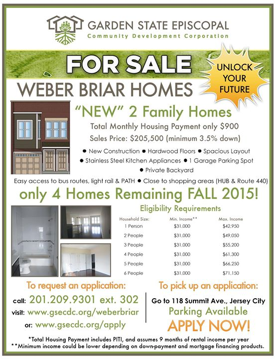 Weber Briar Open House at 35 New Street, Jersey City