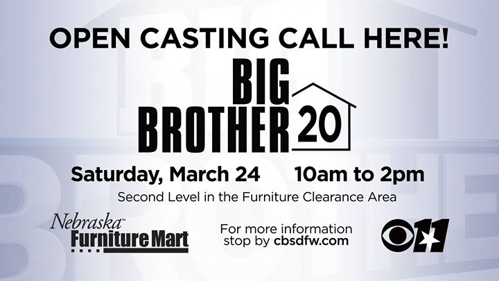 Big Brother Casting Call At Nebraska Furniture Mart Texas
