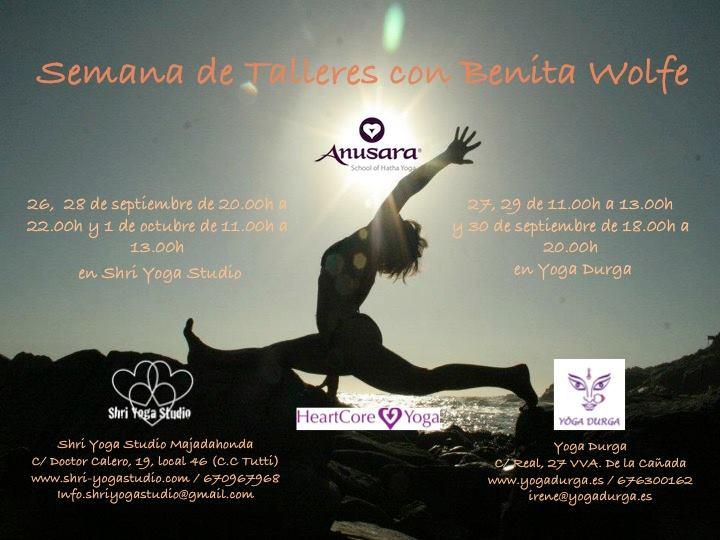 Semana de talleres con Benita Wolfe En Shri Yoga y Yoga Durga