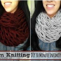 Arm Knit an Infinity Scarf