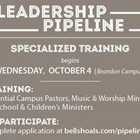Leadership Pipeline Specialized Training Begins