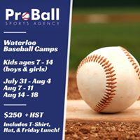 Baseball Camp in Waterloo Park (July 31-Aug 4)