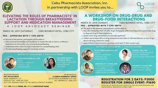 CPhA and LOOP Seminars March 2019