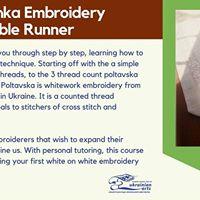 Merezhka Embroidery Table Runner Workshop