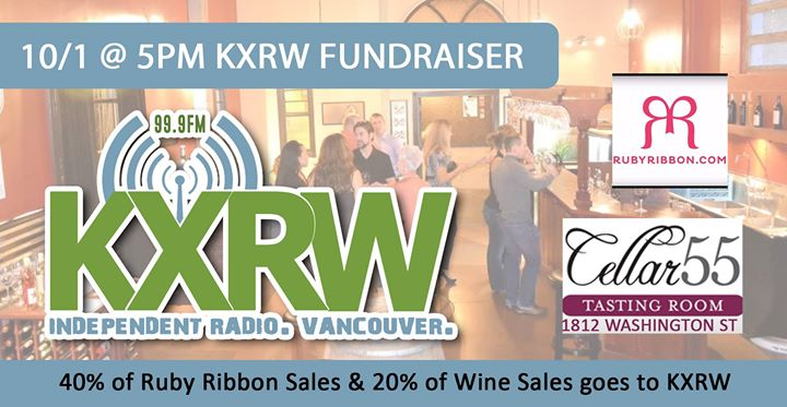 KXRW Fundraising Party with Ruby Ribbon (Jody Akers) & Cellar 55