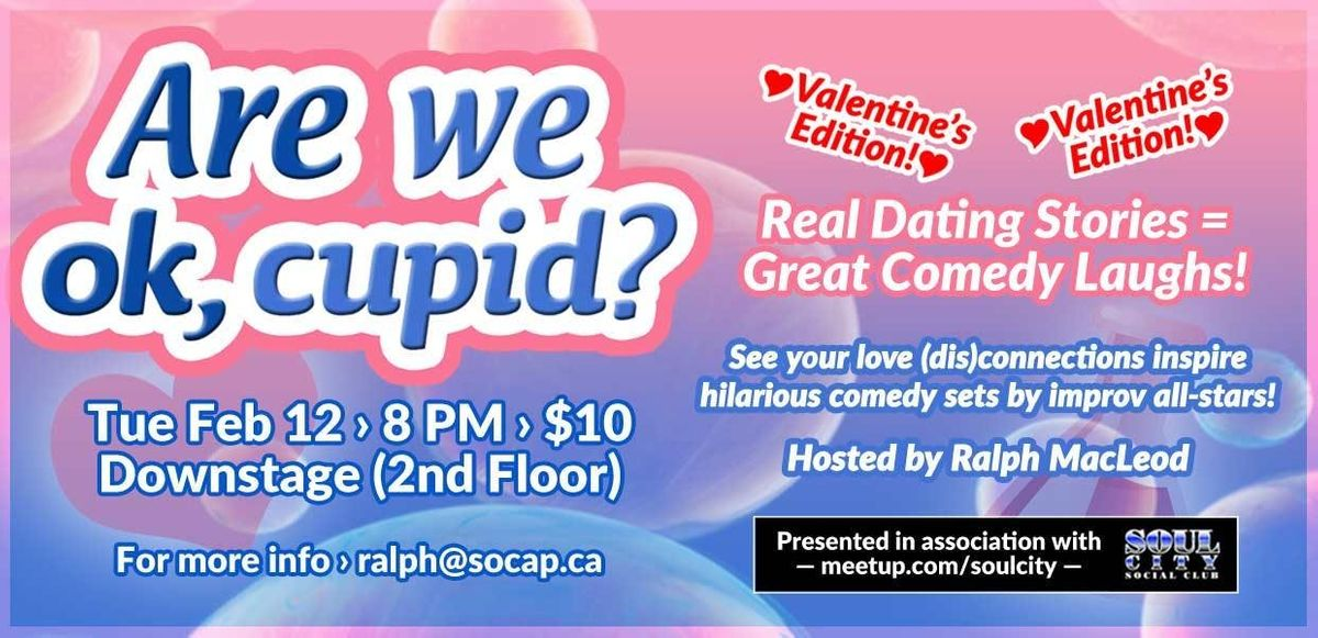 Are We Ok Cupid Valentines Edition