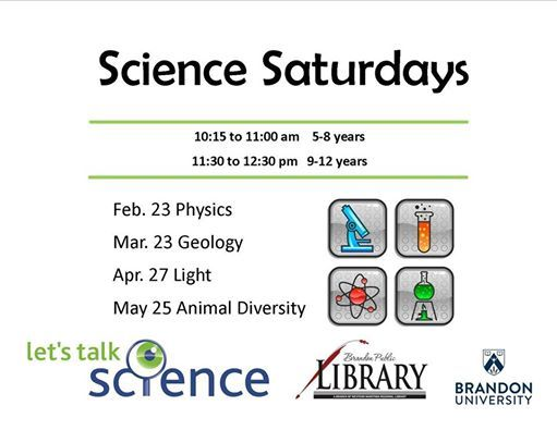 Science Saturdays at the Brandon Library