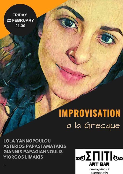 Improvisation A La Grecque At  Art Bar
