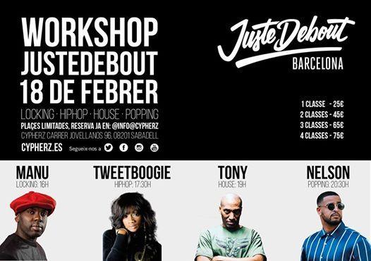 Workshops Juste Debout Barcelona