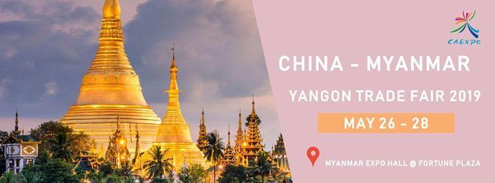China Myanmar Yangon Trade Fair 2019 at Myanmar Expo Hall at