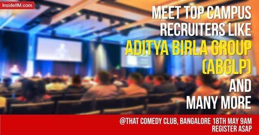 Pre-MBA Social 2018 - Bangalore