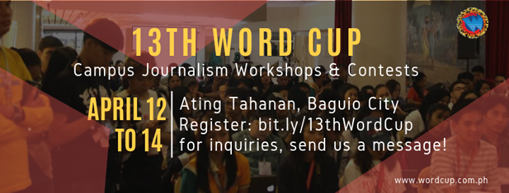 13th Word Cup PH Journalism Workshops And Contests
