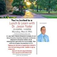 Lunch &amp Learn with Dr. Jason Yoder