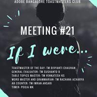 Adobe Bangalore Toastmasters Meeting 21