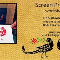Screen Printing 2 day workshop in Bangalore
