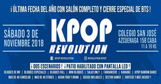 Kpop Revolution 3 De Noviembre Ultima Del Ano At Kpop