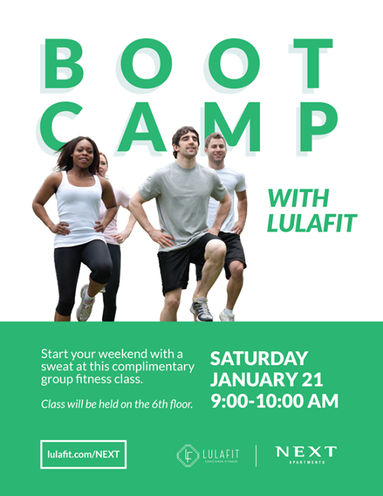 Complimentary High Intensity Boot Camp with Lulafit