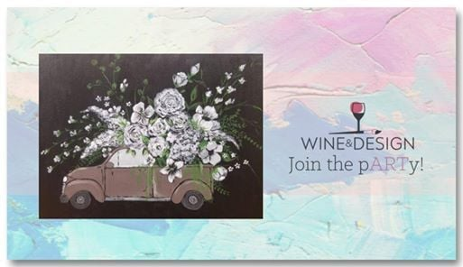Truck O Flowers Byob Painting Class At Wine Design Greenville