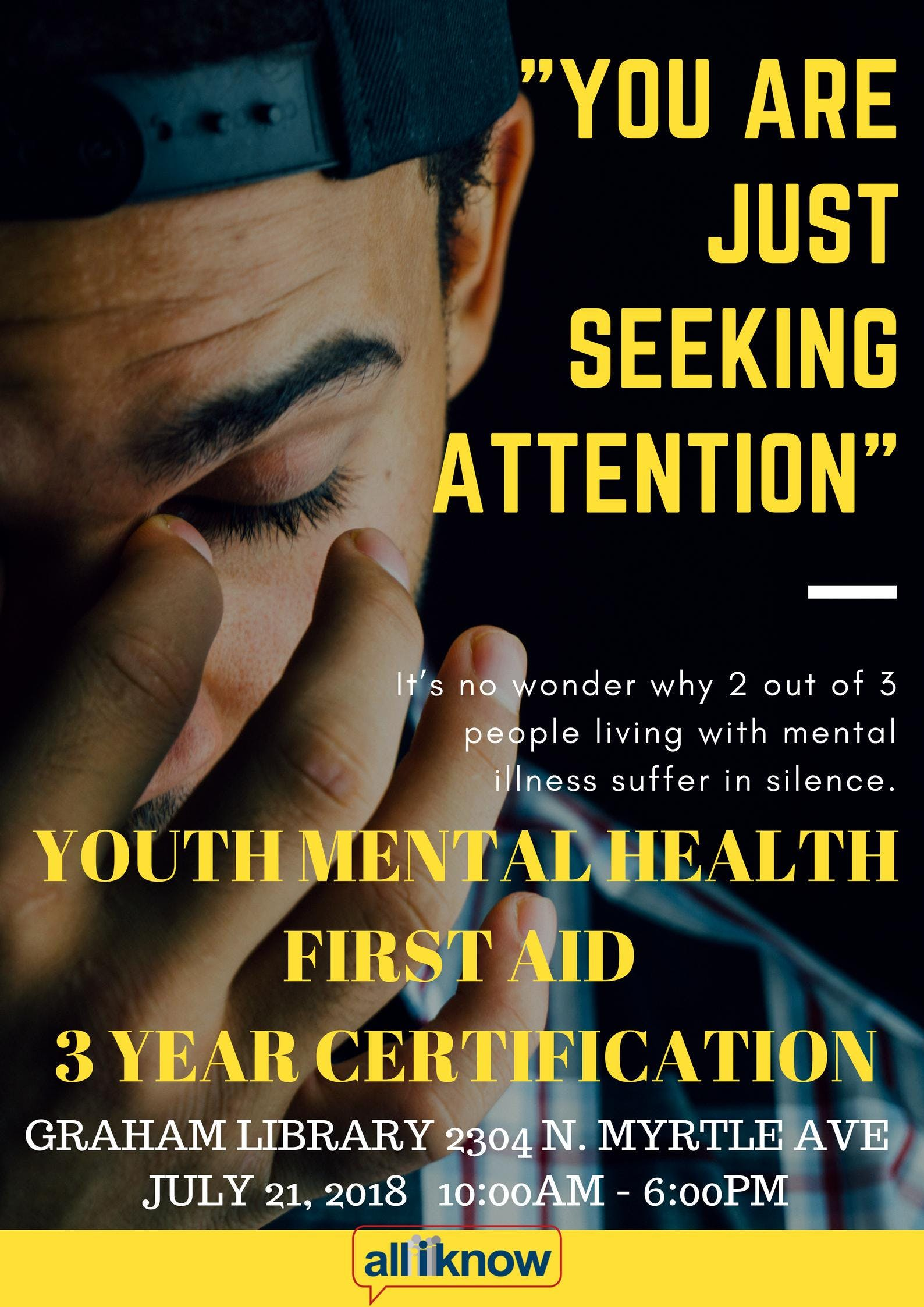 Youth Mental Health First Aid Certification At Graham Branch Library