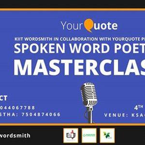 YQ Spoken Word Masterclass with KIIT Wordsmith Bhubaneswar