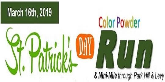 2019 St. Patricks Day Family Fun Run and Mini-Mile through Park Hill and Levy