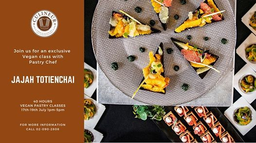 Vegan Pastry Classes with Pastry Chef Jajah Totienchai