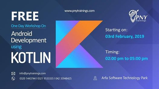 Free One Day Workshop on Android Development using Kotlin
