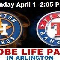 April 1 Houston Astros vs Texas Rangers