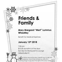 Benefit For Mary Margaret &quotMert&quot Lummus Wheatley Sat Jan 20th