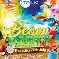 Beach Party at the Talk Southend Complex XXL Vs TNT