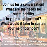 Know Your City Sustainability Workshop