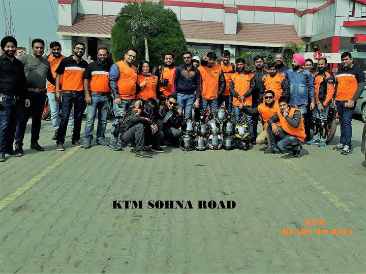 Ktm sohna road rewari st anniversary ride at ktm sohna road gurgaon