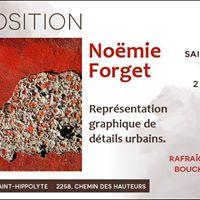 Clichs carrs exposition de Nomie Forget.