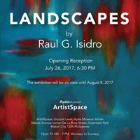 Exhibit Opening of Landscapes by Raul G. Isidro