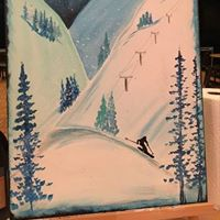 Winter Skiing Painting Class