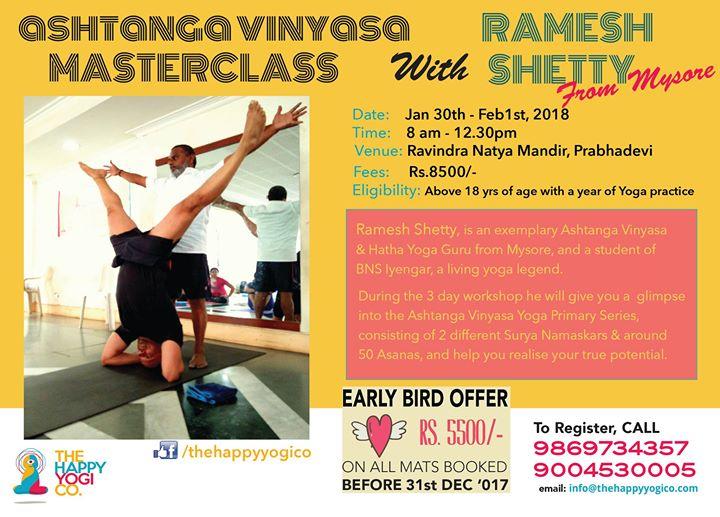 Ashtanga vinyasa yoga masterclass with Ramesh Shetty
