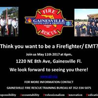 Think you want to be a FirefighterEMT Come chat with us