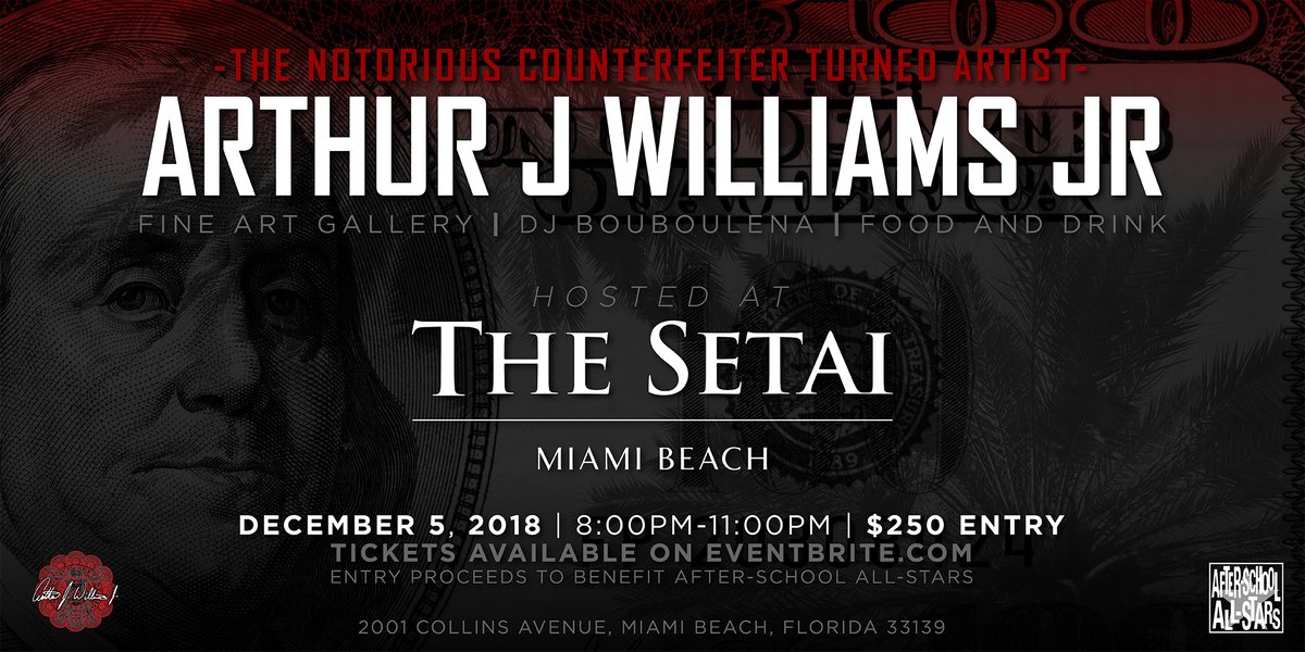 ART BASEL VIP PREVIEW WITH ARTIST ARTHUR J WILLIAMS JR
