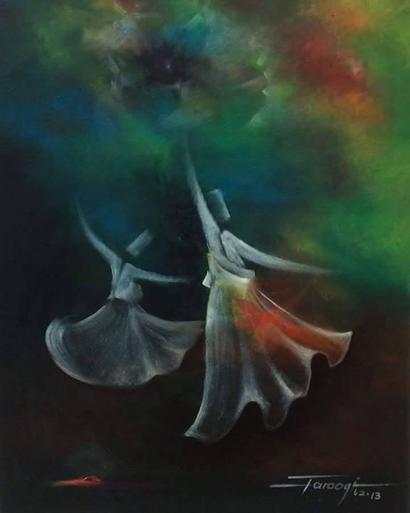 Fatima Jinnah Park Islamabad: Whirling Dervishes By Mr. Shafique Farooqi At Gallery 6