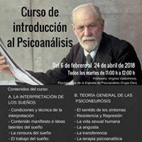 Curso de introduccin al Psicoanlisis en Alcal de Henares