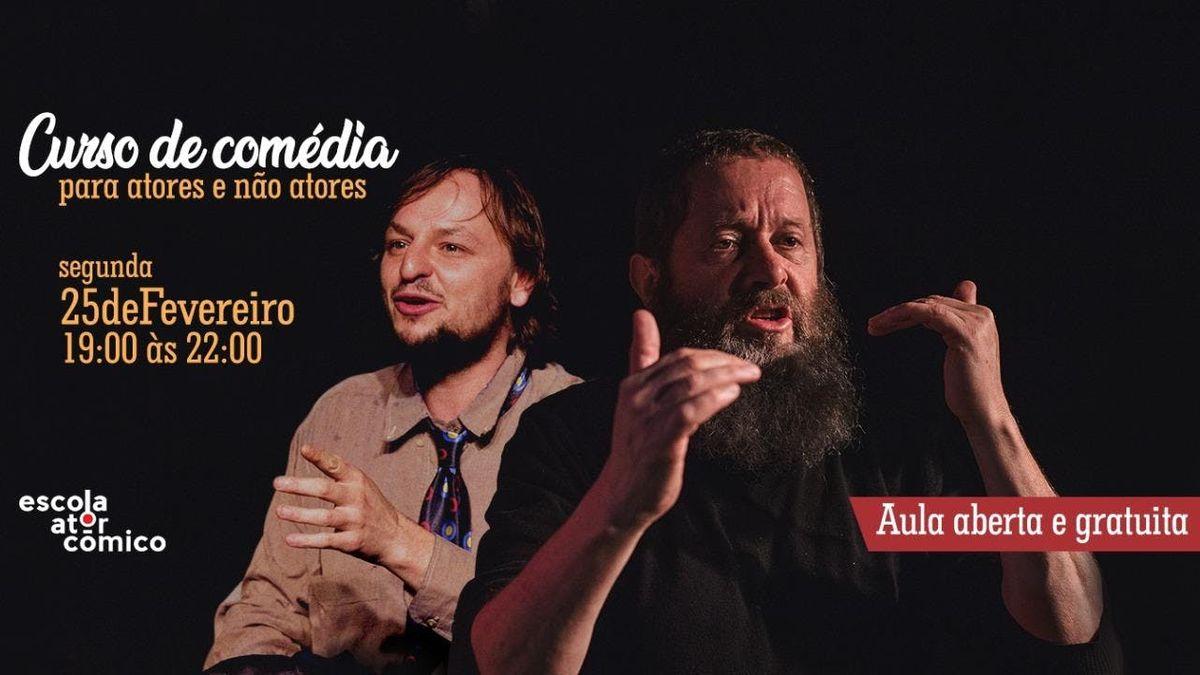 AULA ABERTA 2  Teatro para Atores e no atores da Escola do Ator Cmico