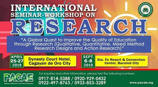 International Seminar-Workshop on Research at The Dynasty