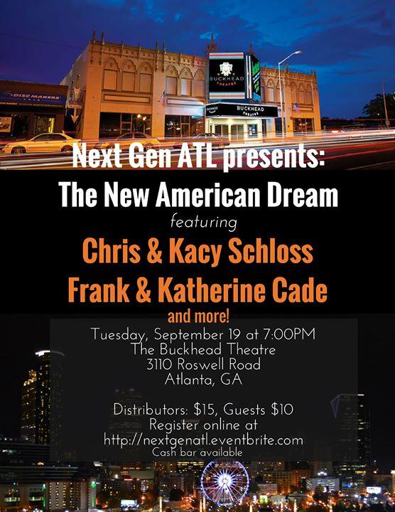 Atlanta, GA - Next Gen ATL: The New American Dream - 9/19/2017 at ...