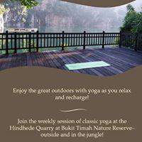 Yoga at Bukit Timah Nature Reserve