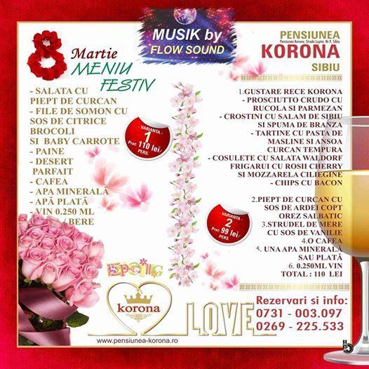 8 Martie la Restaurantul Korona