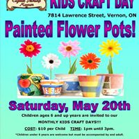 Kids Craft Day - Painted Flower Pots