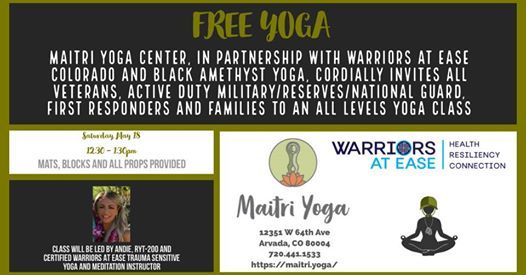 Free Community Yoga for Veterans Military & First Responders