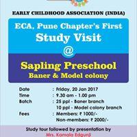 Study Visit to Sapling Preschool
